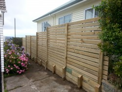 fence with retaining