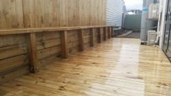 retaining, fence and decking