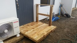 small deck/door step
