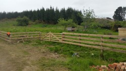 wooden farm gates