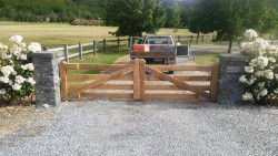 heavy duty wooden gates